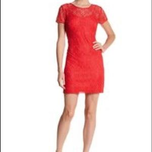 NWOT Guess Los Angeles Coral Lace Dress